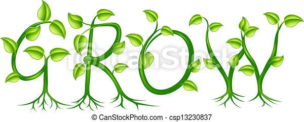 Grow concept - csp13230837