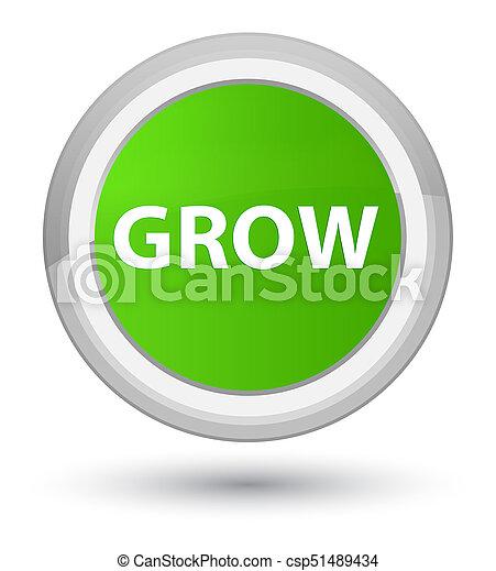 Grow prime soft green round button - csp51489434
