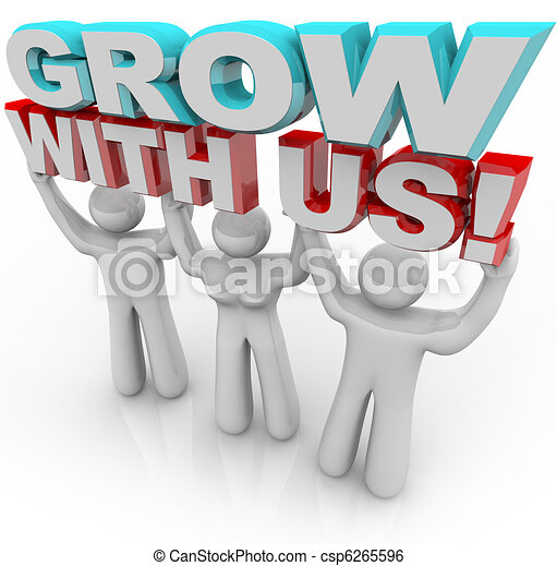 Grow With Us - Join a Group for Personal Growth - csp6265596