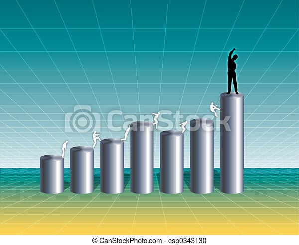 Growing Business Chart - csp0343130