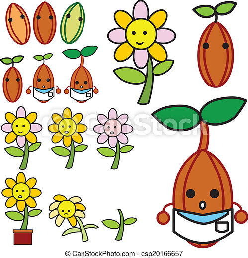 growing flower vector - csp20166657