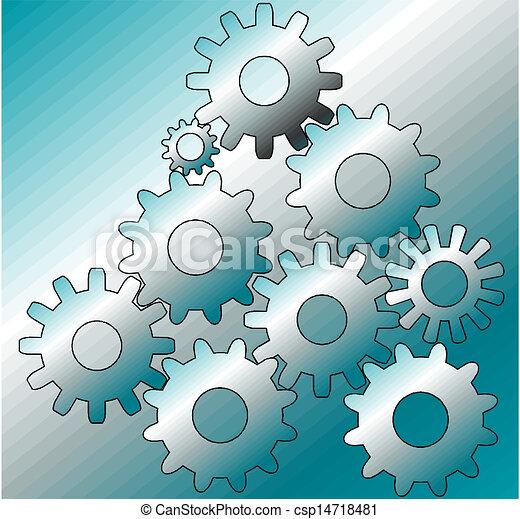 growing gears - csp14718481