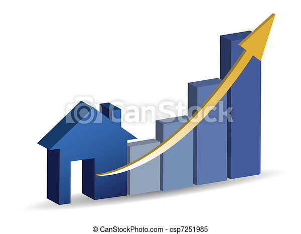 Growing home sales illustration - csp7251985