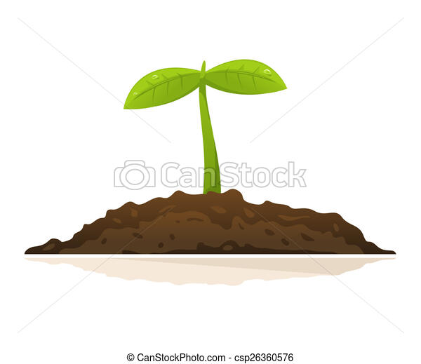 growing plant one small green plant with leaves growing in stock rh canstockphoto com Growing Tree Clip Art plant growing clipart