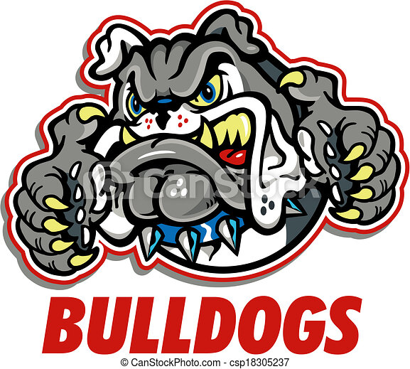 growling bulldog mascot vectors search clip art illustration rh canstockphoto ie