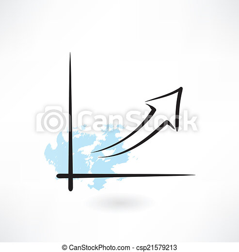 growth chart grunge icon - csp21579213