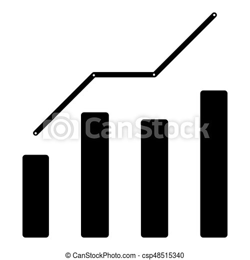 Growth chart the black color icon . - csp48515340