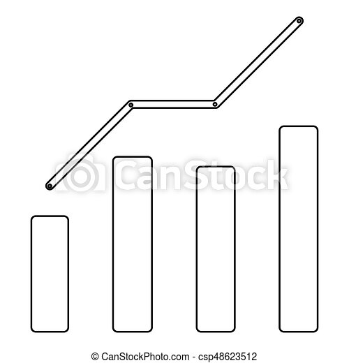 Growth chart the black color icon . - csp48623512