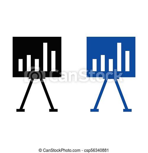 Growth graph icon - csp56340881