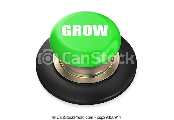 Growth Green button - csp29356911