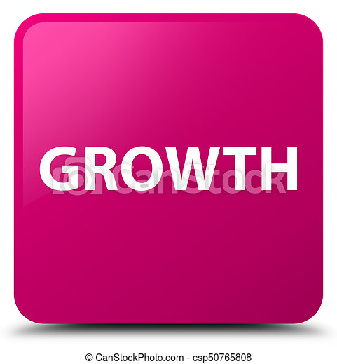 Growth pink square button - csp50765808