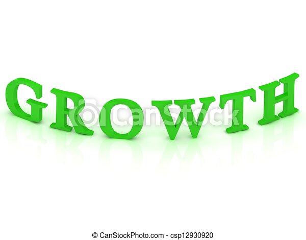 GROWTH sign with green word  - csp12930920