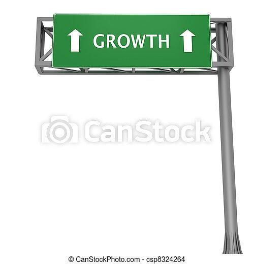 Growth signboard - csp8324264