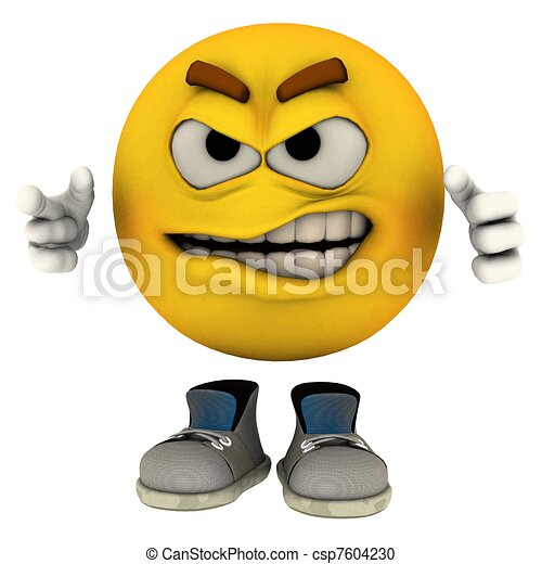 Grrr. The emotiguy in his uniq...