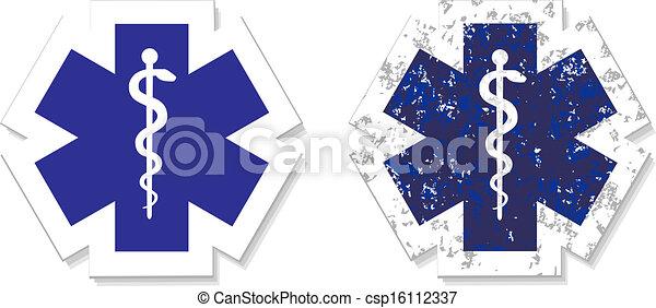 Simbolo médico del giro de emergencia - csp16112337