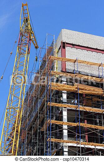 grue, -, sous, house., construction bâtiments - csp10470314