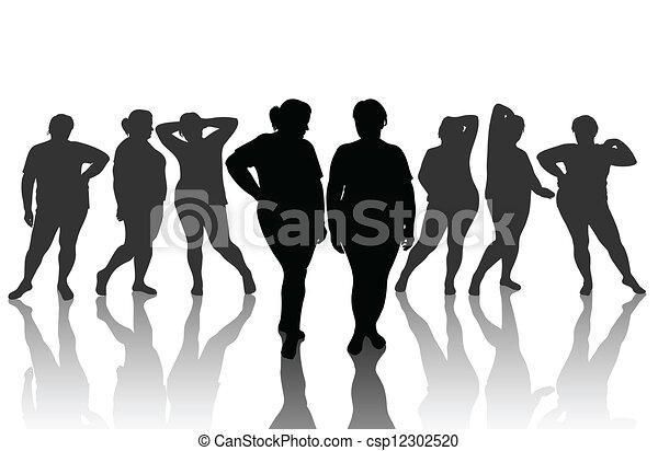 Mujer delgada - csp12302520