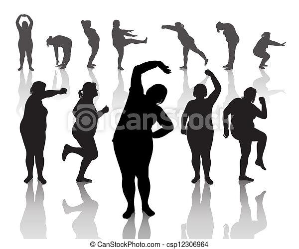 12 figuras de mujeres gruesas - csp12306964