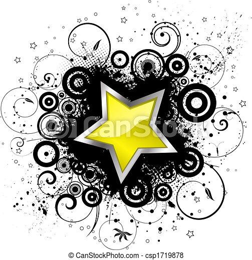 grunge, 星 - csp1719878