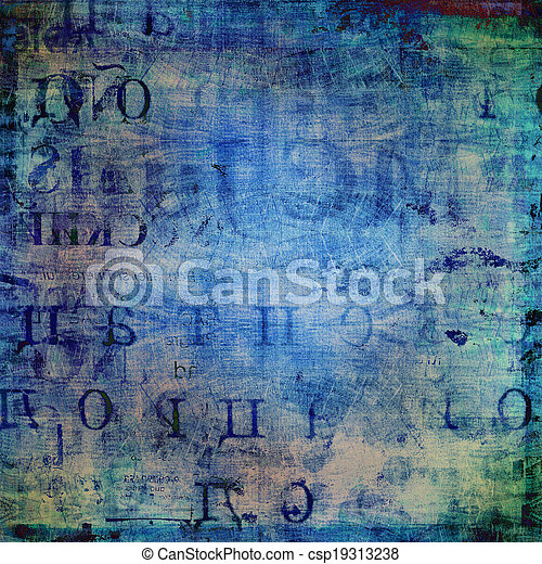 Grunge abstract background with old torn posters - csp19313238