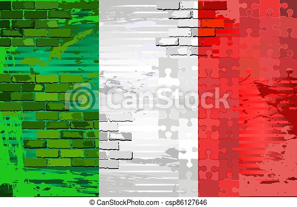 Grunge Abstract flag of the Italia - csp86127646