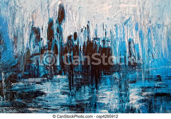 grunge, abstrakt, -, artistisk, rörig, målning, bakgrund - csp4265912