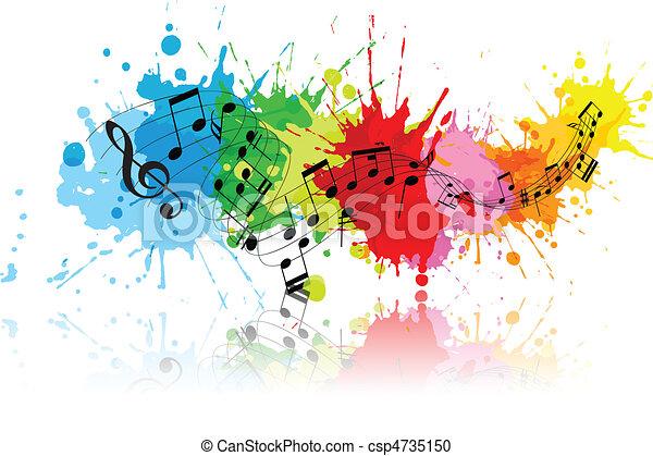 grunge, abstratos, música - csp4735150