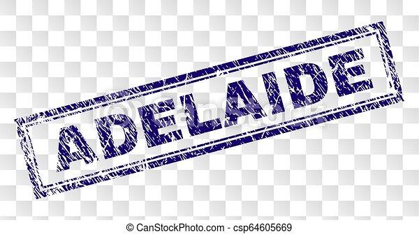 Grunge ADELAIDE Rectangle Stamp - csp64605669