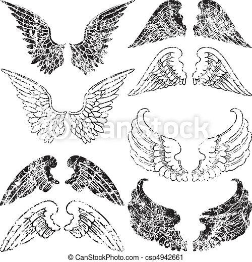 Alitas de ángel grunge - csp4942661