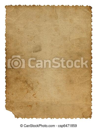 Grunge alienated paper design in scrapbooking style - csp6471859