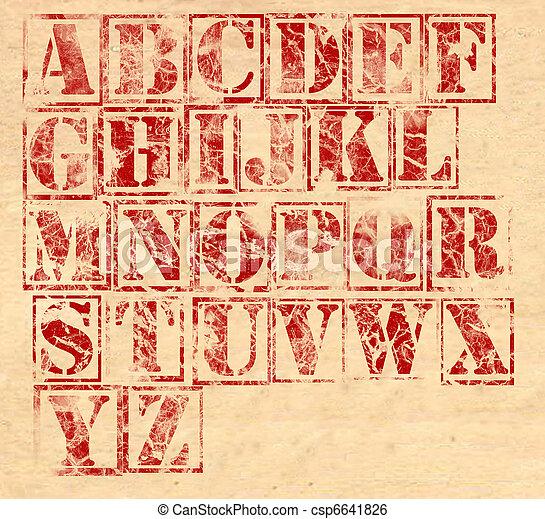 Grunge Alphabet - csp6641826
