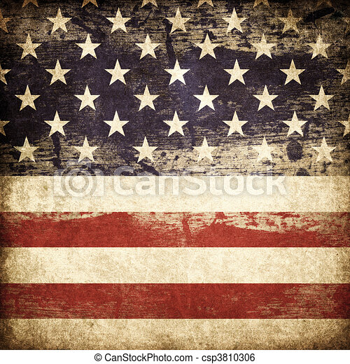 Grunge american patriotic theme background. - csp3810306