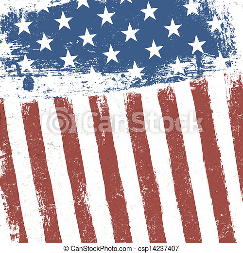 grunge, amerykanka, tło., bandera, wektor, eps10 - csp14237407