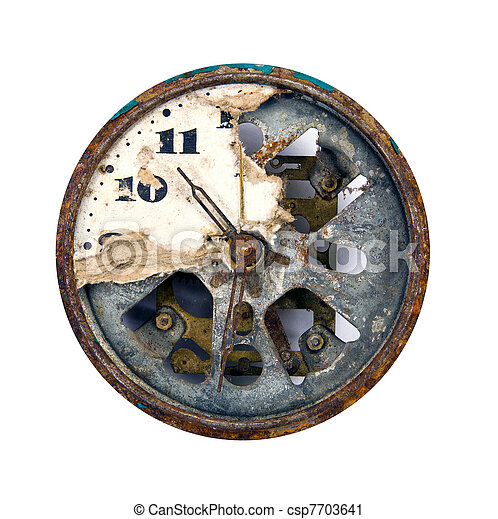 grunge and broken clock dial - csp7703641