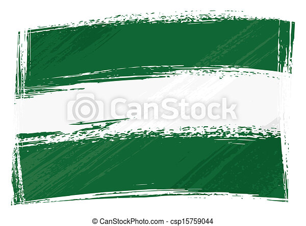 Grunge Andalusia flag - csp15759044