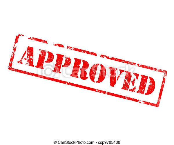 grunge approved stamp - csp9785488