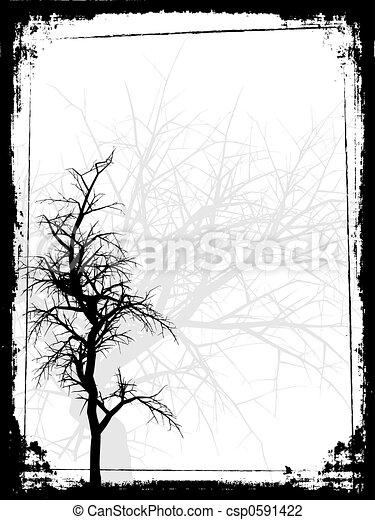 grunge, arbre - csp0591422