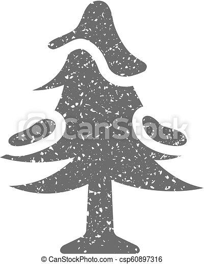 grunge, -, arbre, icône - csp60897316