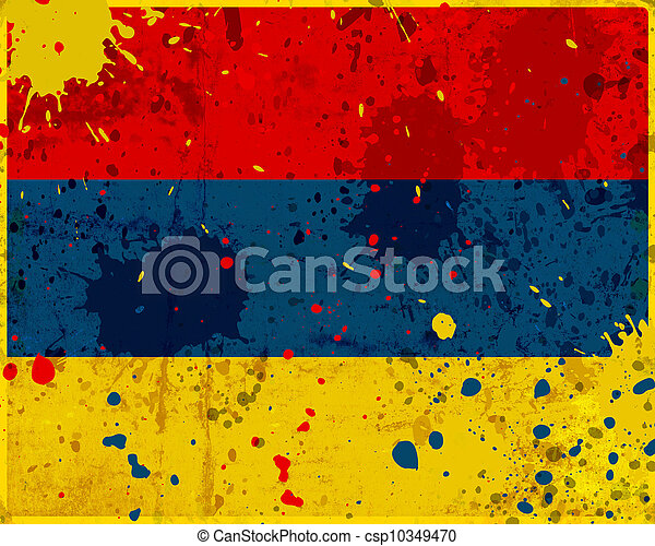 Grunge Armenia flag - csp10349470