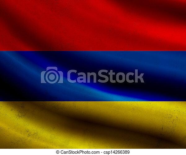 Grunge Armenia flag - csp14266389