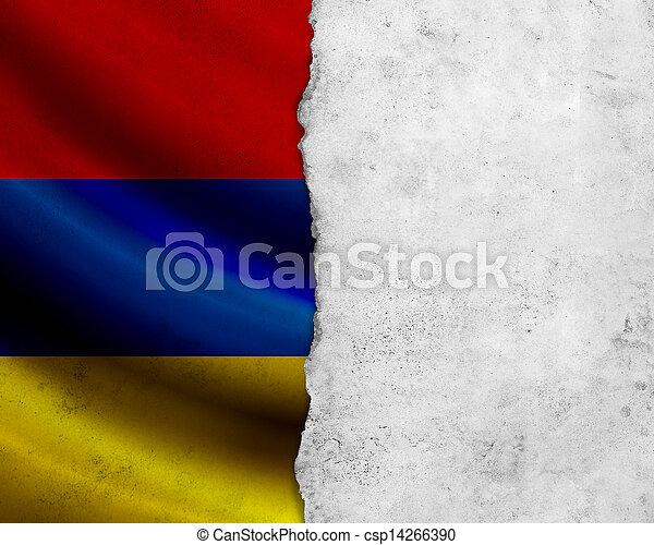 Grunge Armenia flag - csp14266390