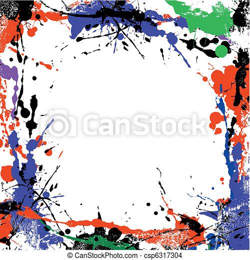 grunge art frame - csp6317304