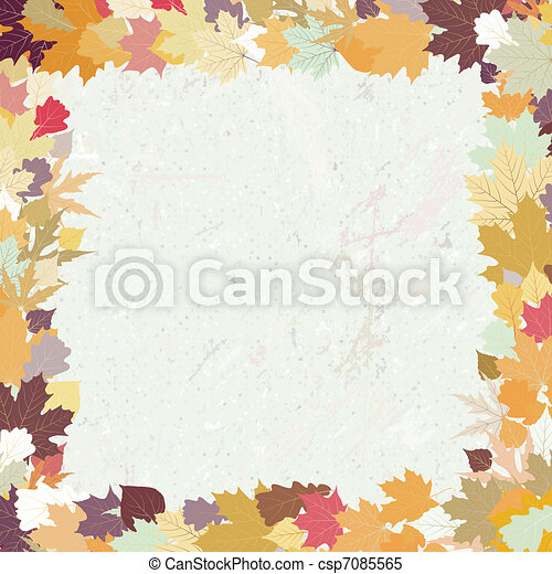 Grunge autumn background. EPS 8 - csp7085565