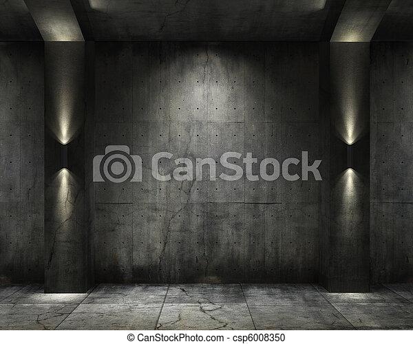 Grunge background concret vault - csp6008350