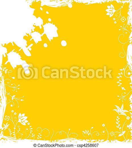 grunge background flower elements for design illustration vectors rh canstockphoto com black grunge vector background distressed grunge background vector