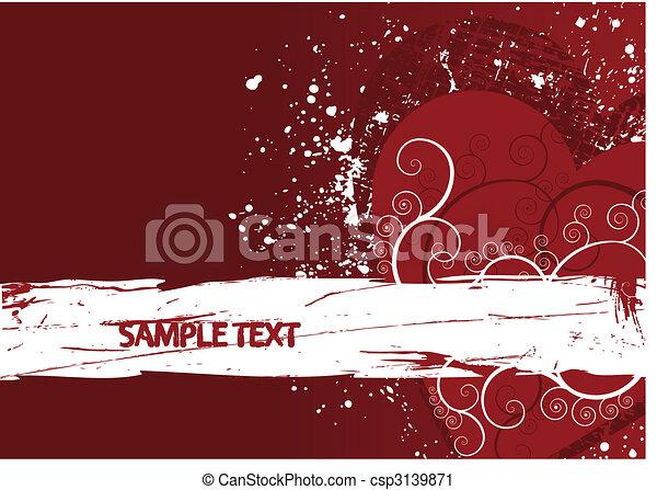 Grunge background heart - csp3139871