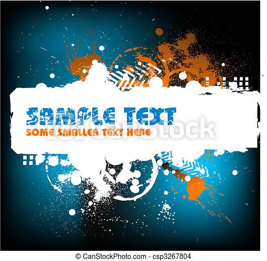 Grunge background with blots - csp3267804