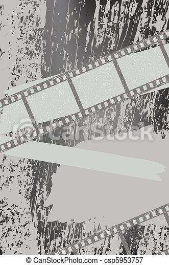 Grunge background with filmstrips - csp5953757