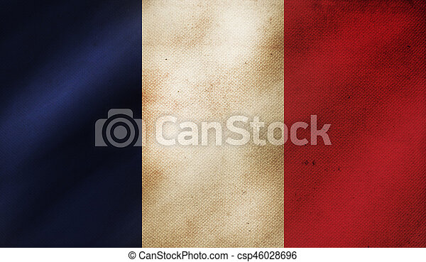 Grunge background with flag of France. - csp46028696