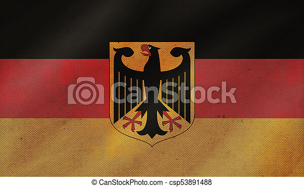 Grunge background with flag of Germany. - csp53891488